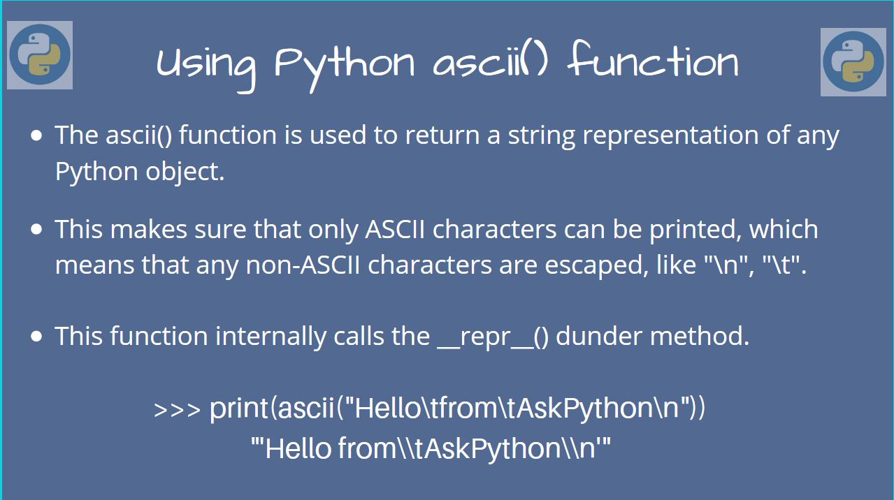 Python Ascii